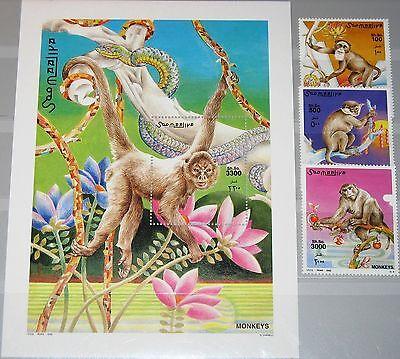 SOMALIA 2002 942-45 Block 90 Affen Apes Monkeys Fauna Tiere Animals MNH