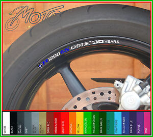 8 x BMW R1200GS Adventure 30 years Wheel Rim Decals Stickers