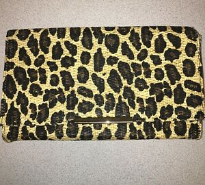 Cheetah print clutch woven H&M New and Unused