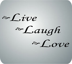 Quote Wall Decals Live Love Laugh Ebay