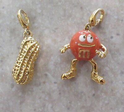 Orange M&M Candy Charm  Pendant  Bracelet Monet NEW - Candy Charm