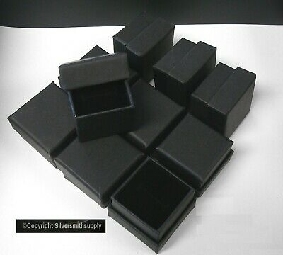Ring Box Jewelry Displays 10 Matte Black 1.75 Cardboard Ring Gift Boxes Jd033