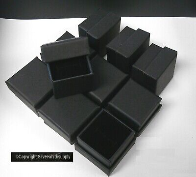 Ring Box Jewelry Displays 10 Matte Black 2 Cardboard Ring Gift Boxes Jd041