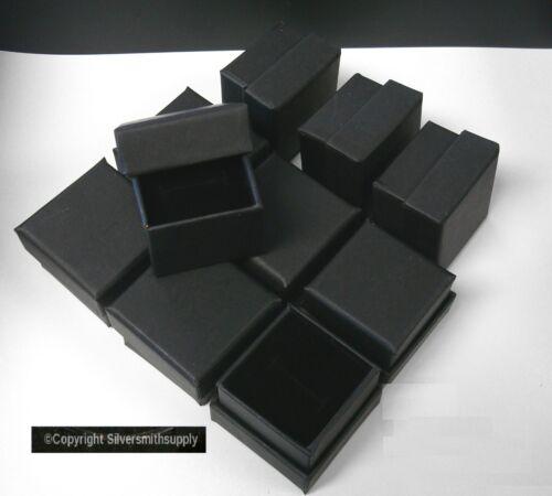 "Ring Box jewelry displays 10 Matte Black 2"" cardboard ring gift boxes JD041"