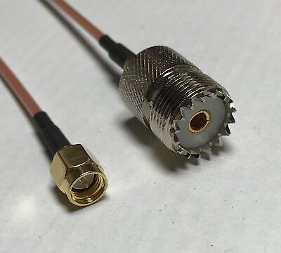 SMA Male to UHF Female RG316 Coaxial Cable High Quality USA Pick Your Length