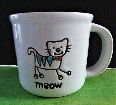 "PetRageous Large Cat ""MEOW"" Microwave Safe Coffee Tea Mug Cup 20 OZ-EUC-KITTY"