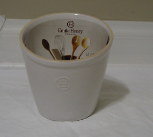 NEW Emile Henry Utensil Caddy-(Flour White)/(Charcoal Black)