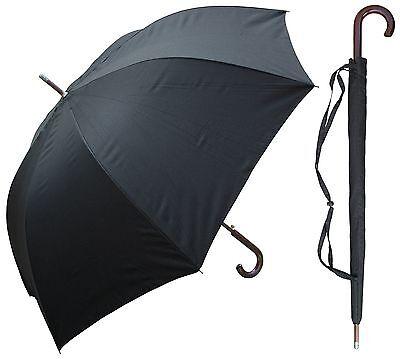 "60"" Auto-Open Black Doorman Umbrella - RainStoppers Rain/Sun UV"