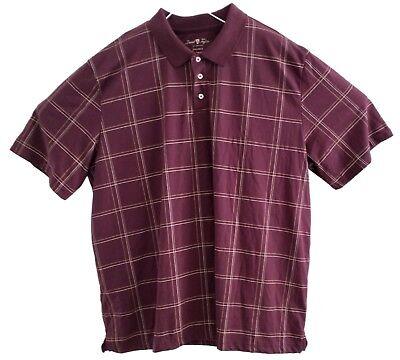 (DAVID TAYLOR Collection Mens Golf Polo Shirt XL Burgundy Performance Polyester)