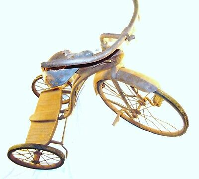 Vintage Elgin Racer Tricycle airflow bicycles Elgin art deco steampunk Victorian (495.5 USD)