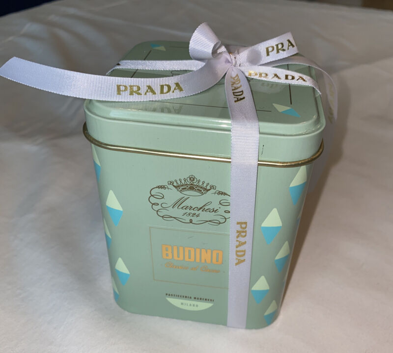 Marchesi 1824 PRADA Can Of Sealed Budino Assorted Chocolates - BRAND NEW!