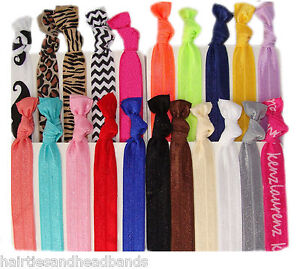 20 Elastic hair ties No crease ponytail holder emi foe twist jay ribbon band lot
