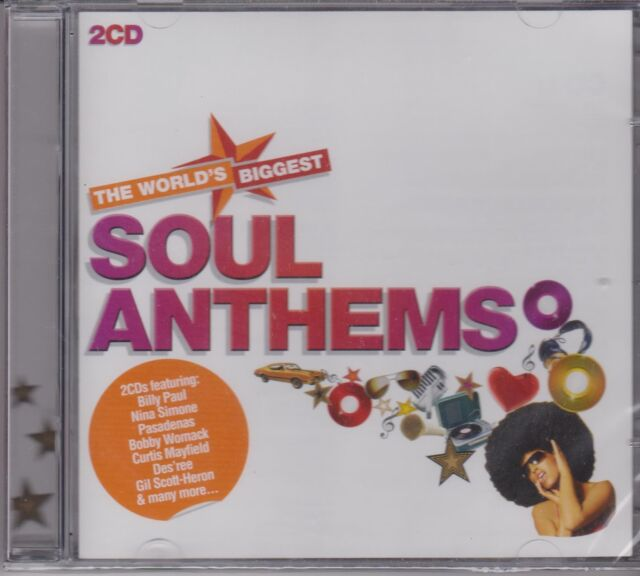 THE WORLDS BIGGEST SOUL ANTHEMS - VARIOUS ARTISTS - 2 CD's - NEW -