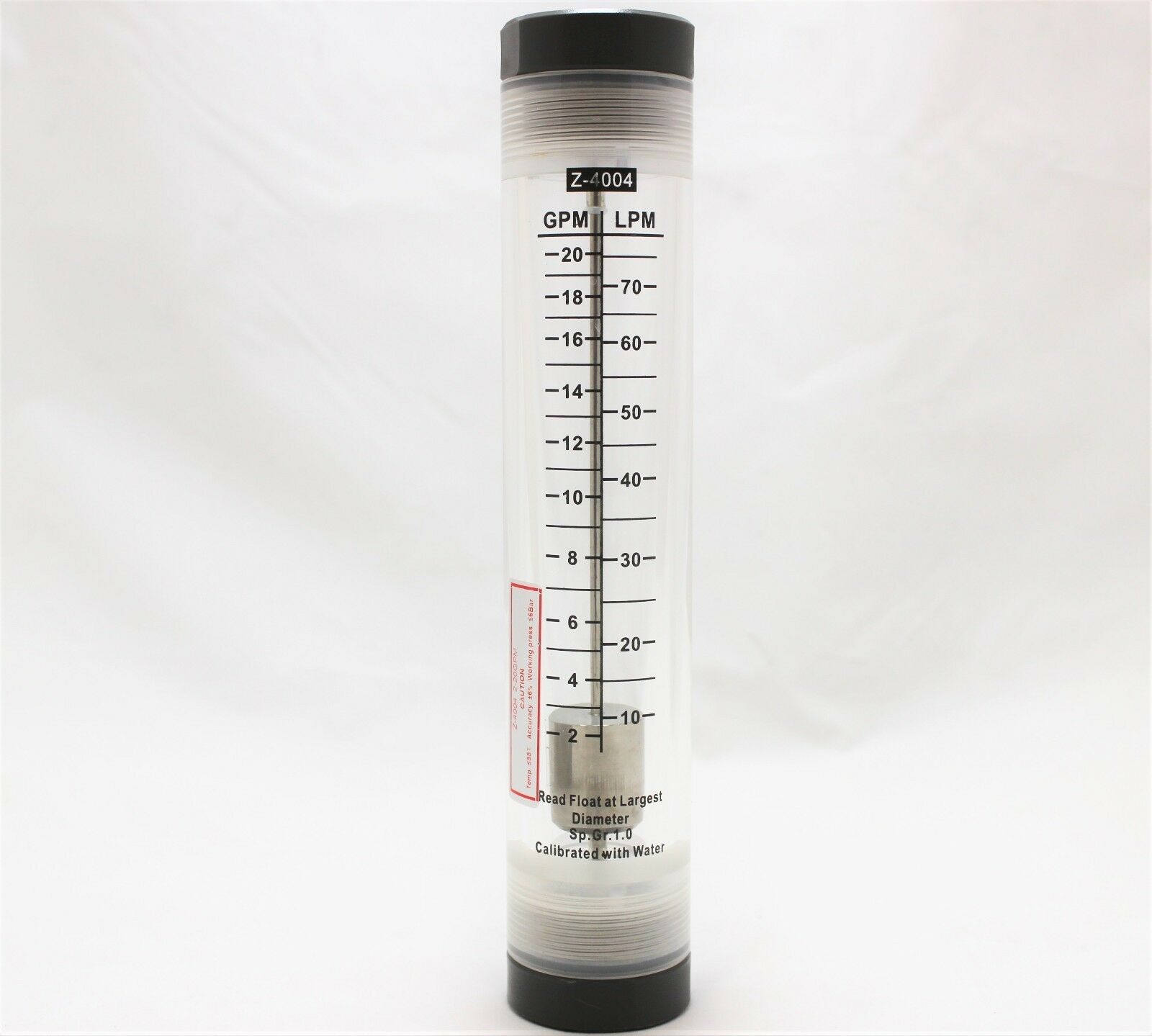liquid template filters - water flow meter flowmeter rotameter 2 20 gpm inline