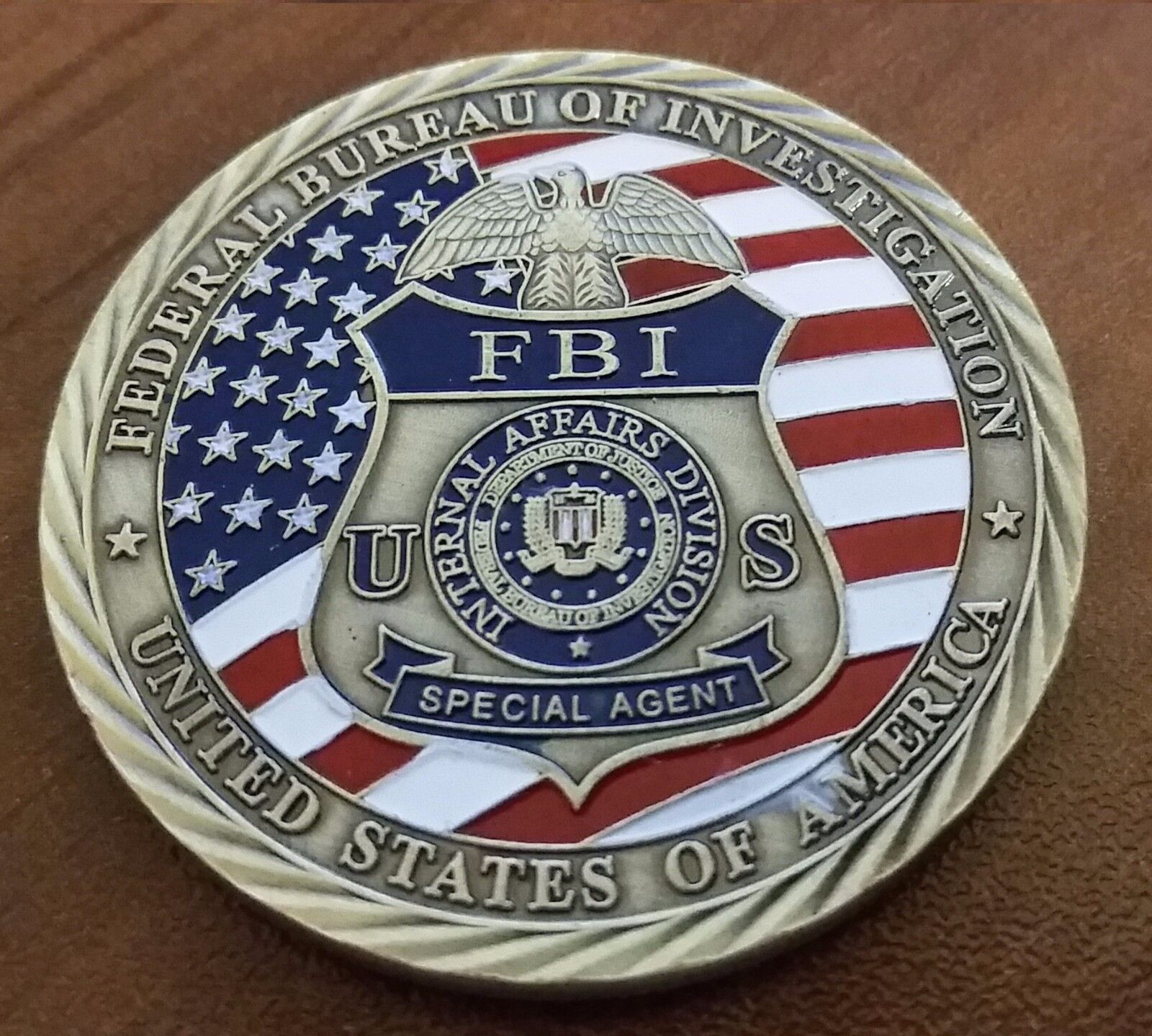 FBI challenge coin law enforcement St Michael Catholic Christian