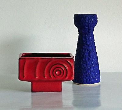 Keramik Duo Steuler Silberdistel Vase Lava___________________rare 50s 60s design