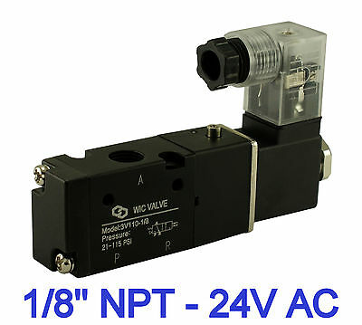 18 Inch Pneumatic 3 Way Electric Directional Control Air Solenoid Valve 24v Ac