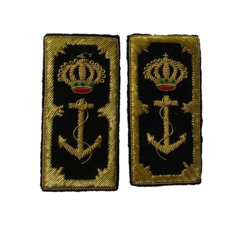 Reproduction WW2 Italian embroidered Navy Admiral Passants for Blue Uniform