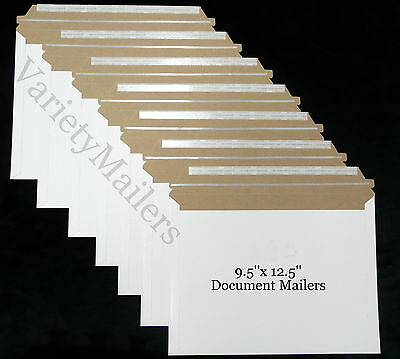5 Rigid Shipping Envelopes 9.5x 12.5 Self-sealing Document Photo Mailers