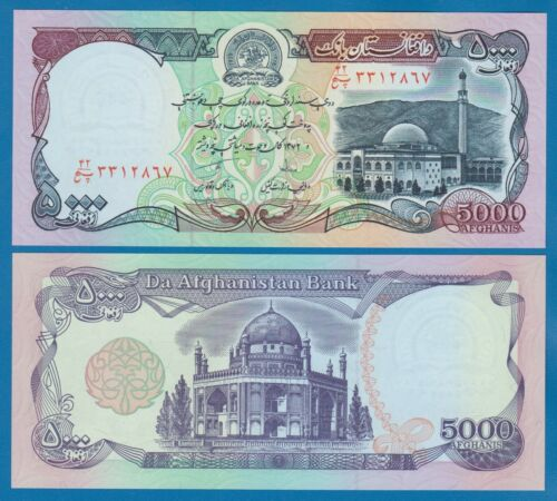 Afghanistan 5,000 Afghanis P 62 (1993) UNC Low Shipping! Combine FREE! 5000