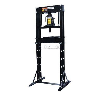 FoxHunter 12 Ton Tonne Hydraulic Garage Workshop Shop Press Floor Standing Black