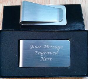 Personalised-Engraved-Stainless-Steel-Money-Clip-Christmas-Birthday-Gift-Custom