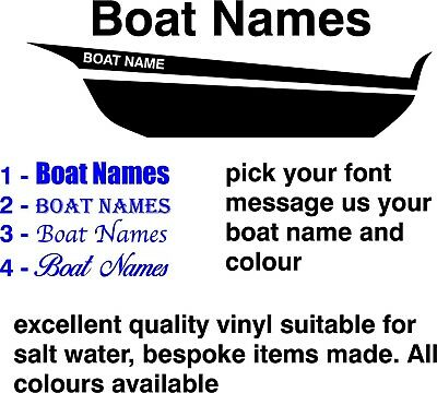 2 x sail boat yacht catamaran kayak personalised names stickers 2@ 600mm - £6.99