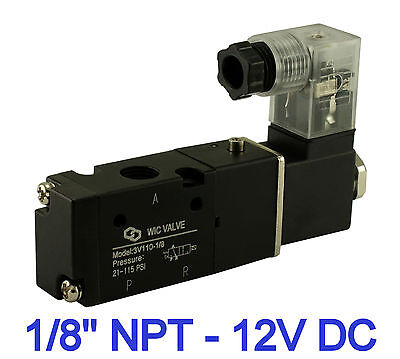 Pneumatic 3 Way Electric Directional Control Air Solenoid Valve 12v Dc 18 Inch