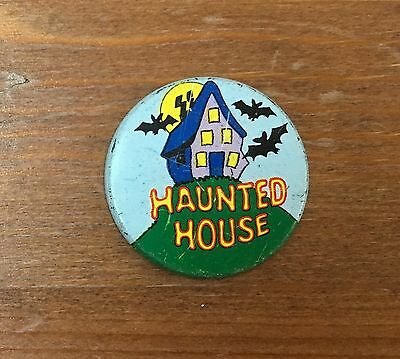 Haunted House Lyons Maid Lolly Mister Softee Ice Cream Man 1970's Button Badge