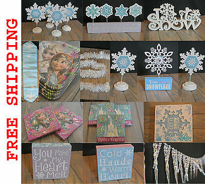 DISNEY FROZEN / WINTER Party Decorations (Many options - see DESCRIPTION)](Winter Birthday Decorations)
