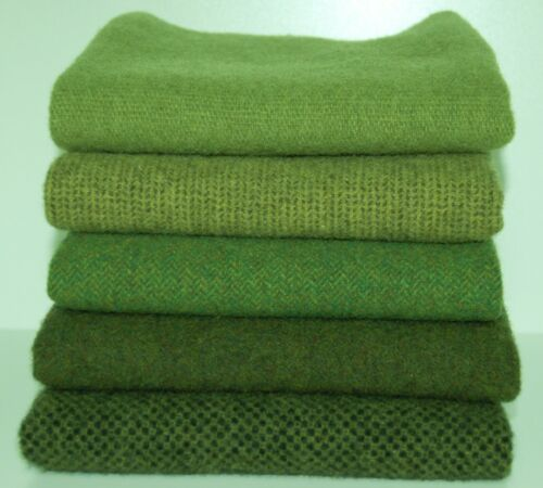 """HAND DYED RUG HOOKING WOOL Mill-Dyed ~ """"GREEN with ENVY-III"""""""