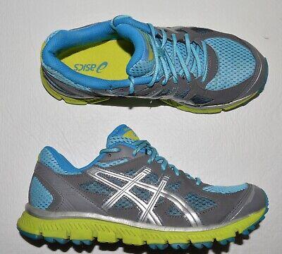 ASICS GEL SCRAM TRAIL RUNNER T2J6N WOMEN'S SZ 8 M 39.5 AQUA LIME SNEAKERS SHOES Runner 2 Trail Running Shoe