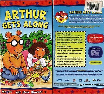 Arthur Arthur Gets Along  Anime VHS Video Tape New