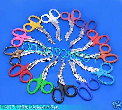 25 Pairs Trauma Shears Bandage Scissors 7 14