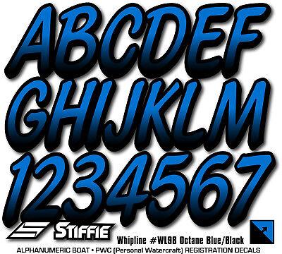 STIFFIE Whipline WL98 Boat PWC Numbers Decal Registration SEA-DOO OCTANE BLACK