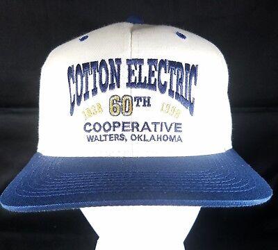 Cotton Electric Coop Snapback Hat Utility Cooperative Cap Rural Oklahoma 1938-98
