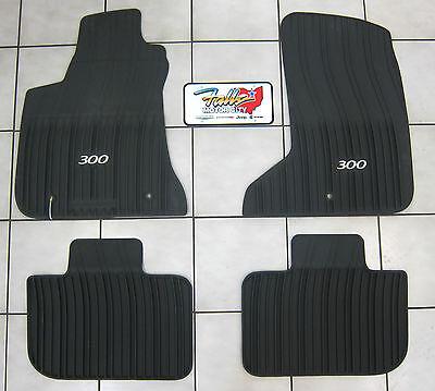 2011 2018 Chrysler 300 AWD All Weather Rubber Slush Mats Floor Mats Mopar OEM