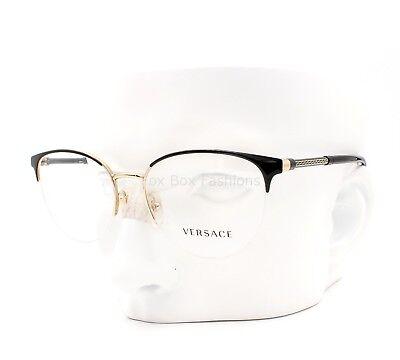 VERSACE MOD 1247 1252 Eyeglasses Optical Frames Glasses Black & Gold ~ 52mm