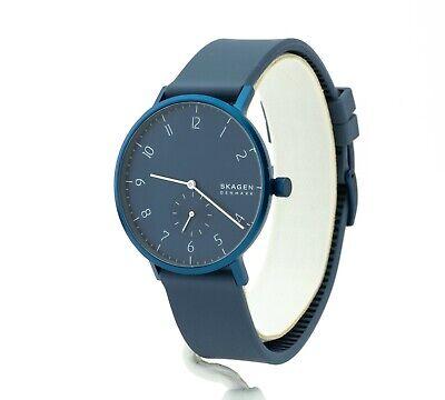 Skagen Aaren Kulor Dusty Blue Silicone Watch SKW6589, New