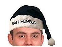 'Bah Humbug' Santa Hats.