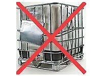 12 ibc. liquid storage, 1000ltr, empty, not clean