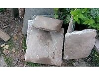 Reclaimed Flagstones in good condition, approx 3 sq mtrs