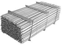Steel Fence Posts/Star Pickets: Imported Galvanised (165cm;5ft 6in)