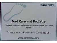 Podiatry and Foot Care in the comfort of your own home in the Newport area