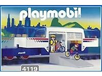 PLAMOBIL EXPRESS TRAIN SET WITH CAR (4119) FOR SALE: