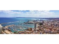 1return flight ticket London-Alicante, 26.May-2.Jun