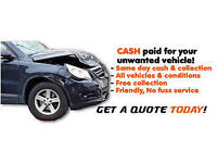 We buy any scrap cars /van /m.o.t failure /spaires or repairs best price paid same day