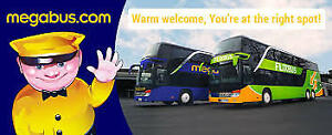 3 Megabus Tickets - Toronto(Scarborough) to Montreal Aug24