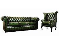 Chesterfield Sofa Wingback Chair Leather.