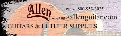 Allen Guitars and Luthier Supplies
